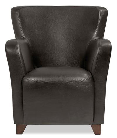 Zello Bonded Leather Accent Chair – Brown|Fauteuil d'appoint Zello en cuir contrecollé - brun|ZEL3BRAC