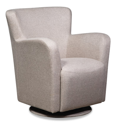 Zello Polyester Swivel Accent Chair - Hemp - {Contemporary} style Accent Chair in Hemp {Pine}, {Plywood}
