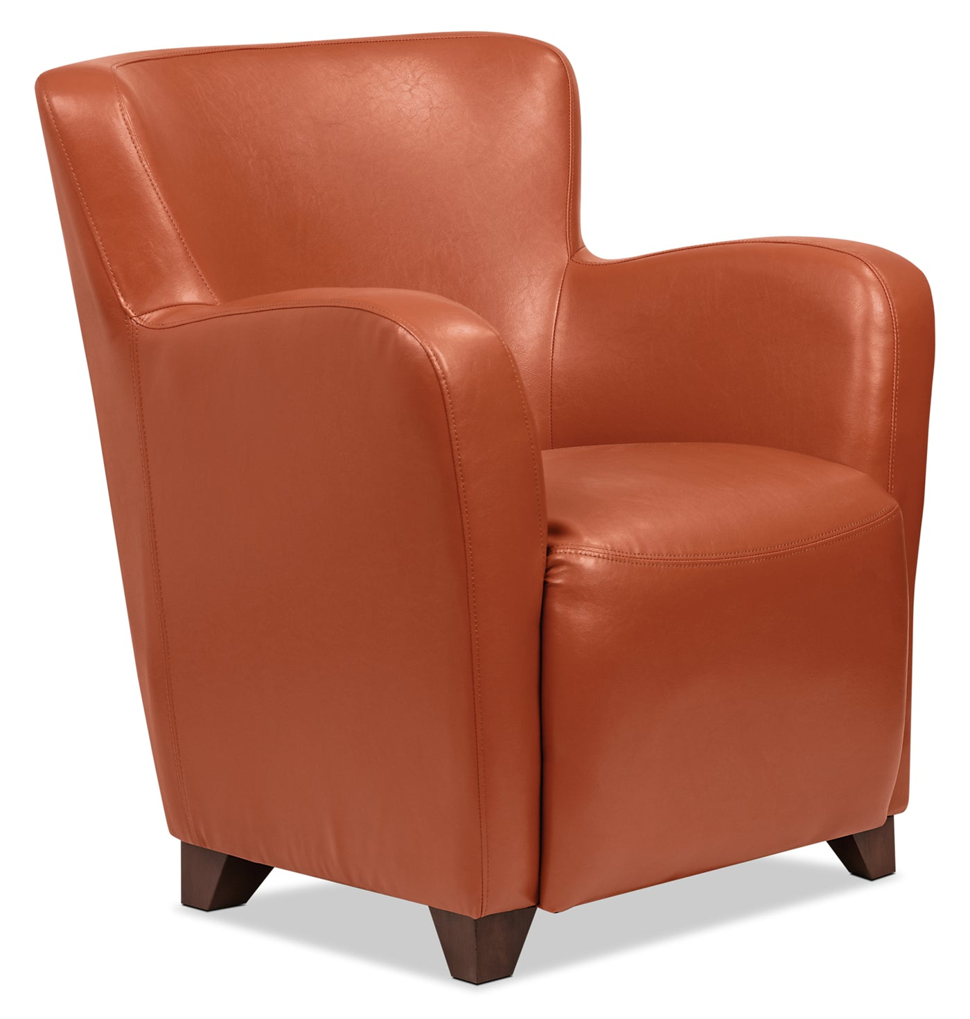 Leather Accent Chairs Metal Legs Caramel.Zello Bonded Leather Accent Chair Spice