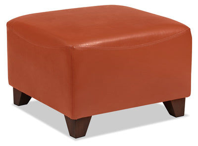 Zello Bonded Leather Ottoman – Spice - Contemporary style Ottoman in Spice