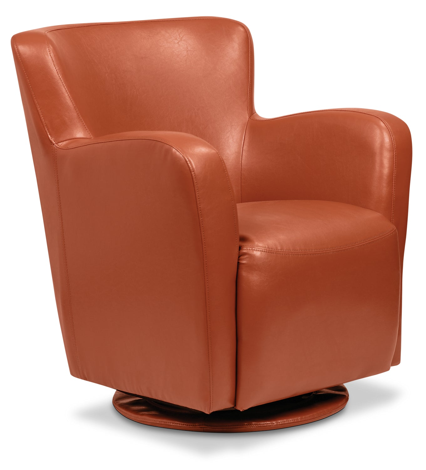 Pleasing Zello Bonded Leather Swivel Accent Chair Spice Pdpeps Interior Chair Design Pdpepsorg