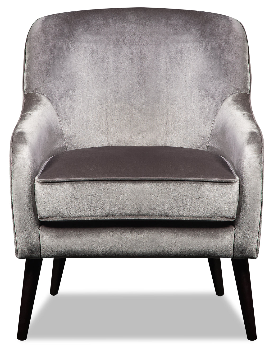 Awesome Zelda Velvet Accent Chair Grey Caraccident5 Cool Chair Designs And Ideas Caraccident5Info