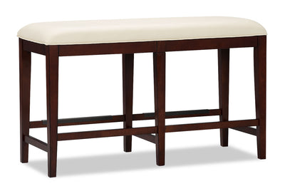 Zeno Counter-Height Dining Bench - Modern style Dining Bench in Cherry Poplar Solids and Cherry Veneers