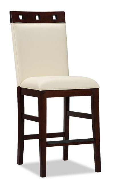 Zeno Counter-Height Dining Chair – Wood Top - Modern style Bar Stool in Cherry Poplar Solids and Cherry Veneers