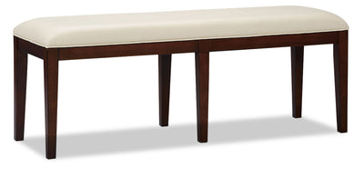 Zeno Dining Bench - Modern style Dining Bench in Cherry Poplar Solids and Cherry Veneers