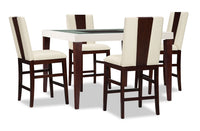 Zeno 5-Piece Counter-Height Dining Package with Wood Back Chair
