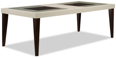 Zeno Dining Table - Glam style Dining Table in Cherry/White