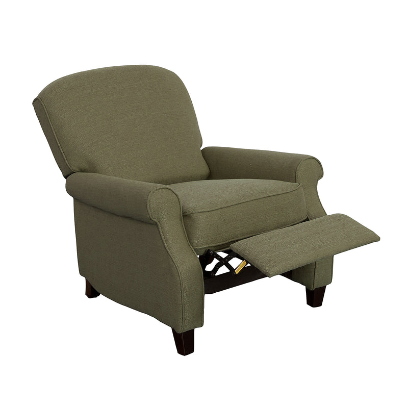 Zoe Linen-Look Fabric Accent Reclining Chair - Army Green|Fauteuil d'appoint inclinable Zoe en tissu d'apparence lin - vert militaire