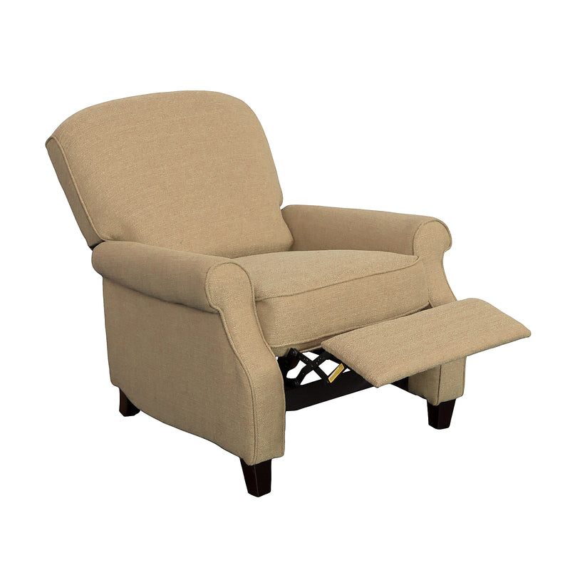 Zoe Linen-Look Fabric Accent Reclining Chair - Beige