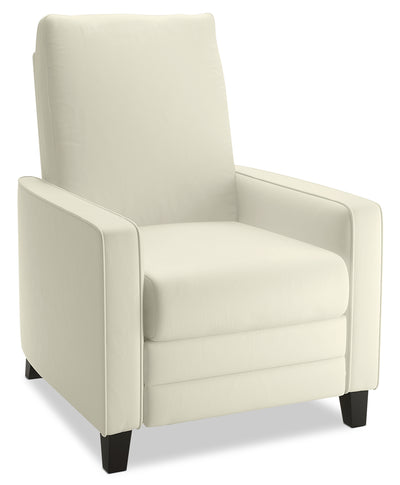 Zoe Bonded Leather Arm Push Accent Reclining Chair - Cream||ZOE483RC