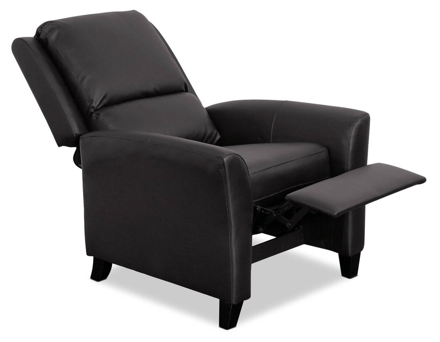 Prime Zoe Bonded Leather Accent Reclining Chair With Flared Arms Black Pdpeps Interior Chair Design Pdpepsorg