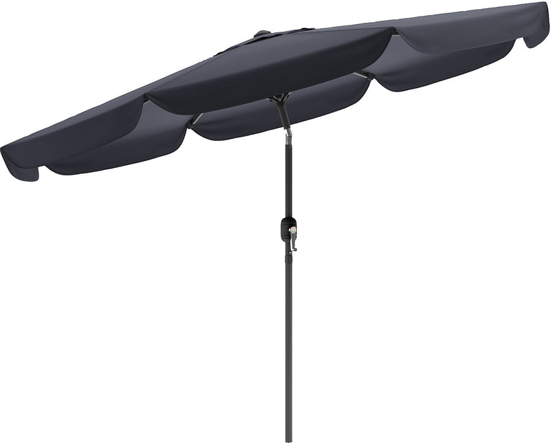 Tilting-Top Patio Umbrella - Black|Parasol à dessus inclinable pour la terrasse - noir