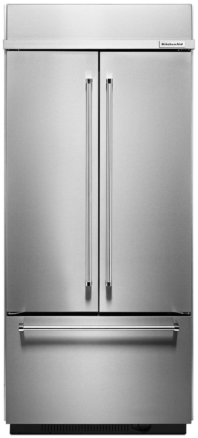 KitchenAid 20.8 Cu. Ft. Built-In French Door Refrigerator - KBFN506ESS|Réfrigérateur encastré KitchenAid de 28,8 pi³ à portes françaises - KBFN506ESS|KBFN506S