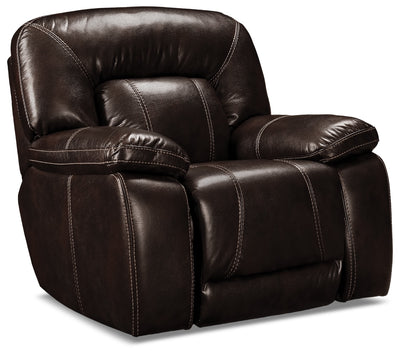 Kimba Leather-Look Fabric Reclining Chair – Brown|Fauteuil inclinable Kimba en tissu d'apparence cuir - brun|KIMB-RC