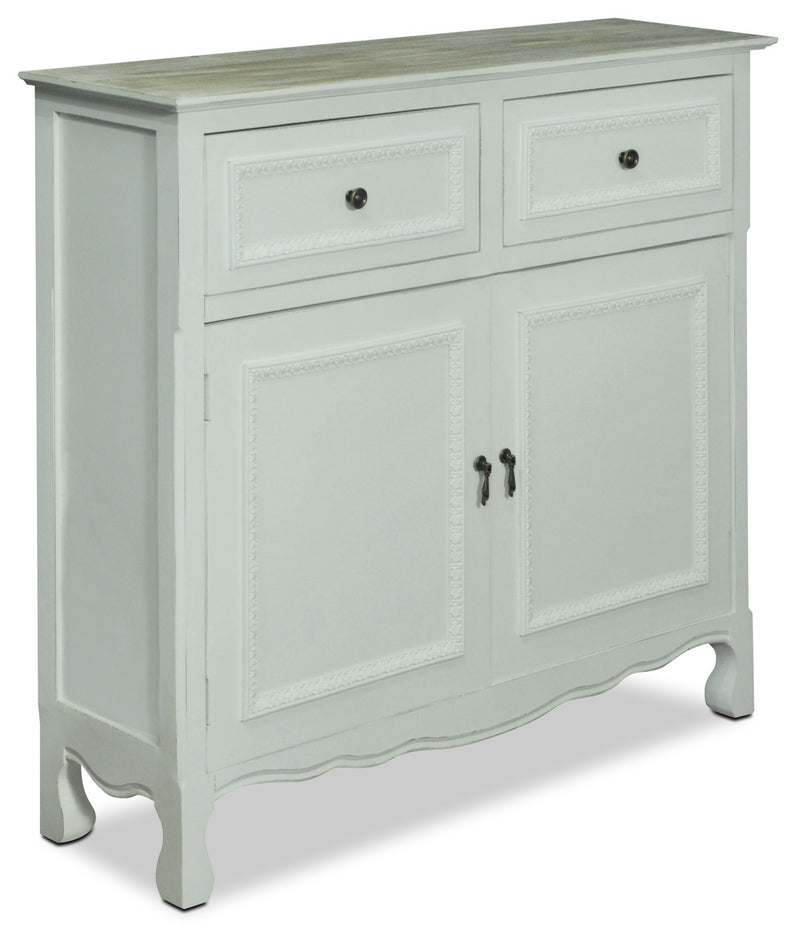 Marbella Accent Cabinet – White|Armoire décorative Marbella - blanc|MARWHACC