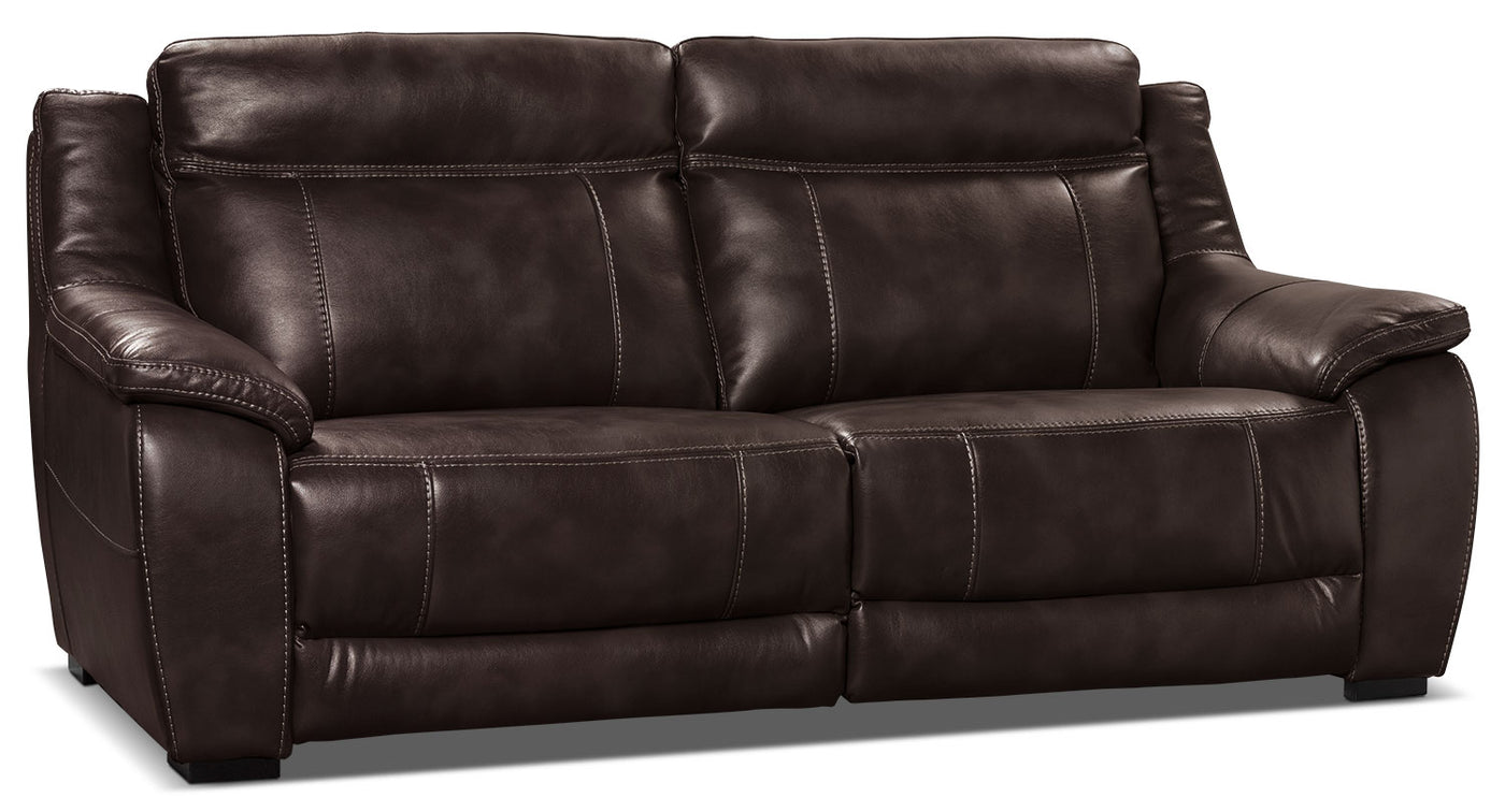 Outstanding Novo Leather Look Fabric Sofa Brown Beutiful Home Inspiration Xortanetmahrainfo