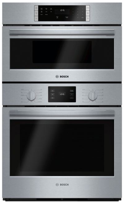"Bosch 30"" Microwave Combination Wall Oven 500 Series – HBL57M52UC - Double Wall Oven in Stainless Steel"