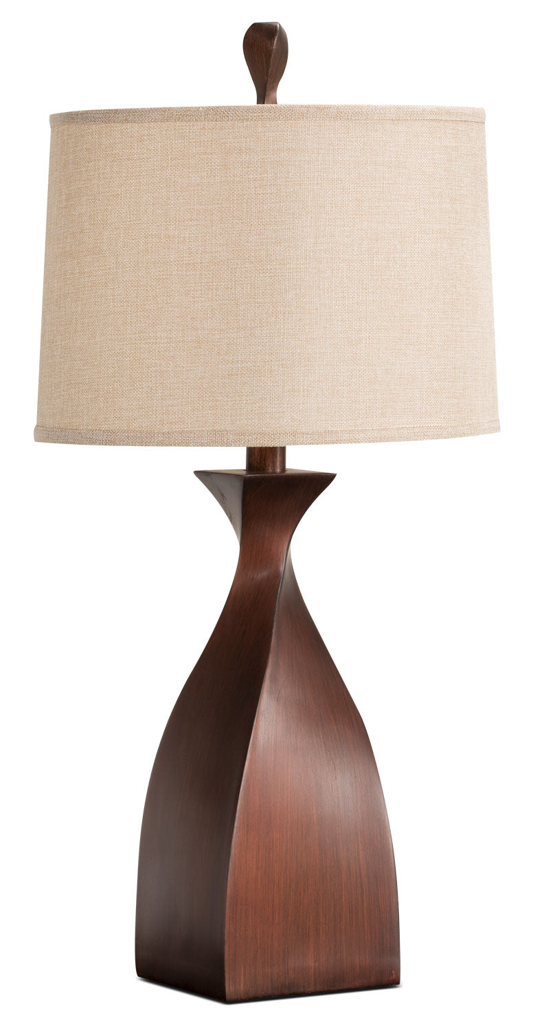 Copper Twist Table Lamp|Lampe de table entortillée en cuivre