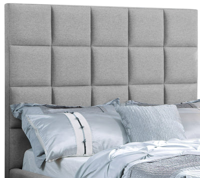 Aden Queen Headboard - {Contemporary} style Headboard in Grey {Asian Hardwood}, {Plywood}, {Medium Density Fibreboard (MDF)}
