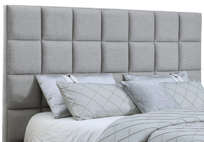 Aden King Headboard - {Contemporary} style Headboard in Grey {Asian Hardwood}, {Plywood}, {Medium Density Fibreboard (MDF)}
