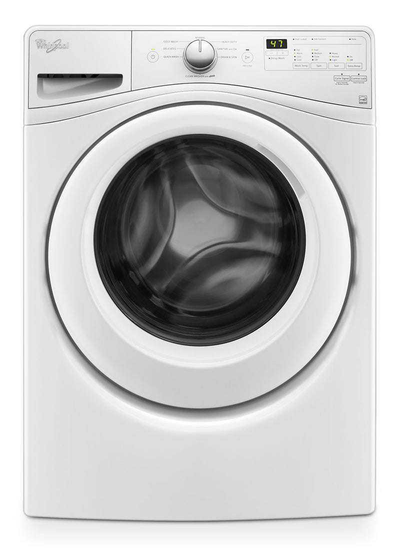Whirlpool 5.2 Cu. Ft. Front-Load Washer – WFW75HEFW|Laveuse Whirlpool à chargement frontal de 5,2 pi3 – WFW75HEFW