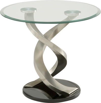 Trenton End Table - Modern style End Table Glass/Metal