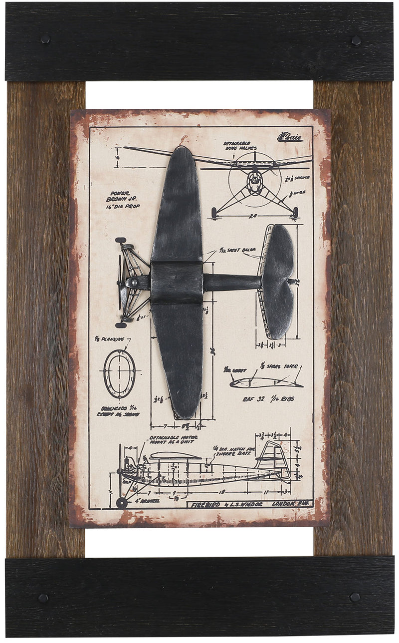 "Metal Plane I – 24.5"" x 40""