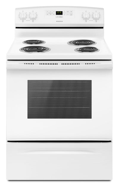 Amana 4.8 Cu. Ft. Electric Freestanding Range – YACR4303MFW - Electric Range in White