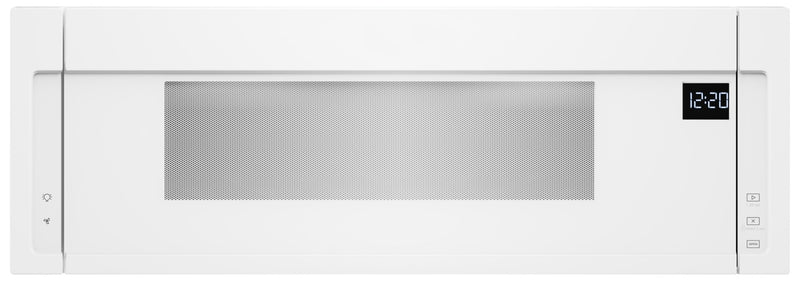 Whirlpool 1.1 cu. ft. Low Profile Microwave Hood Combination - YWML55011HW|Four à micro-ondes à hotte intégrée à profil bas Whirlpool, 1,1 pi3 - YWML55011HW|YWML55HW