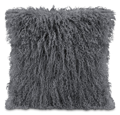Mongolian Sheepskin Accent Pillow – Grey|Coussin décoratif en peau de mouton de Mongolie - gris|636574DP