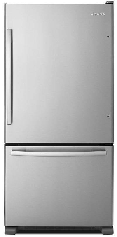 Amana 22 Cu. Ft. Bottom-Mount Refrigerator with EasyFreezer™ – ABB2224BRM - Refrigerator in Stainless Steel