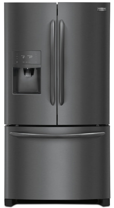 Frigidaire Gallery 21.9 Cu. Ft. Counter-Depth French-Door Refrigerator – FGHD2368TD - Refrigerator in Black Stainless Steel
