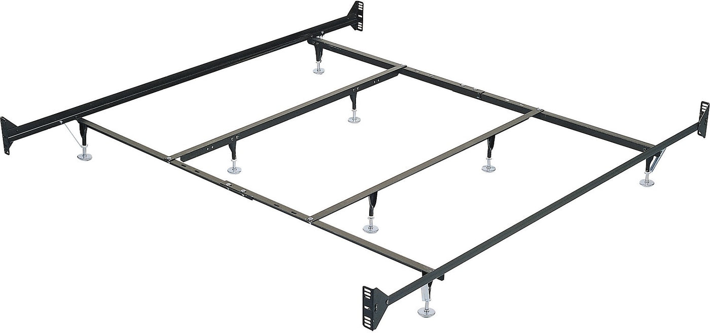 King Metal Glide Bedframe W Headboardfootboard Attachment The Brick