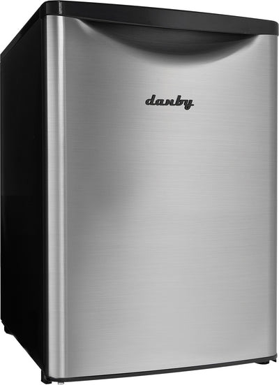 Danby 2.6 Cu. Ft. Compact Refrigerator – DAR026A2BSLDB - Refrigerator in Stainless Steel