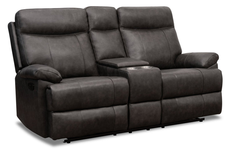 Alexis Genuine Leather Power Reclining Loveseat With Power Lumbar A The Brick