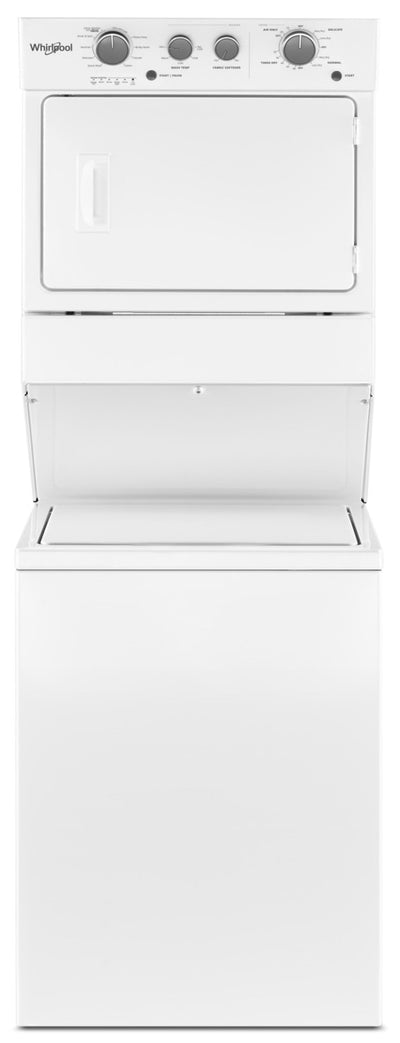 Whirlpool® 4.0 cu.ft Electric Stacked Laundry Center 9 Wash cycles and AutoDry™ - Laundry Centre in White