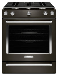 KitchenAid 5.8 Cu. Ft. 5-Burner Gas Convection Range – KSGG700EBS