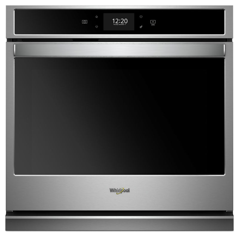 Whirlpool 5.0 Cu. Ft. Smart Single Wall Oven with True Convection Cooking - WOS72EC0HS - Electric Wall Oven in Stainless Steel/Black