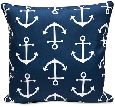 Navy Anchor Accent Pillow|Coussin décoratif ancre bleu marine|ANCHORPP