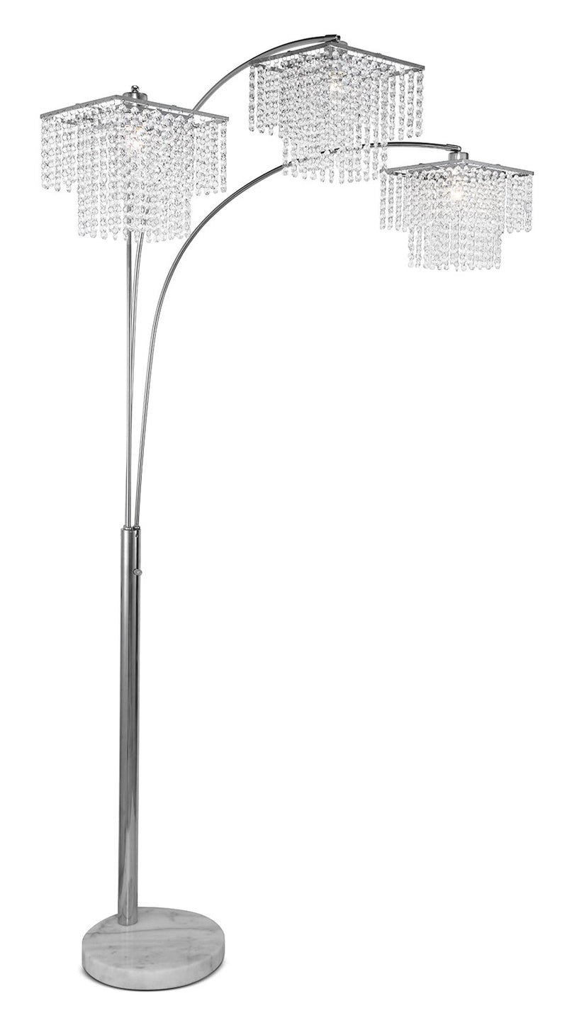 Crystal Glam Arc Lamp|Lampe arquée Crystal Glam