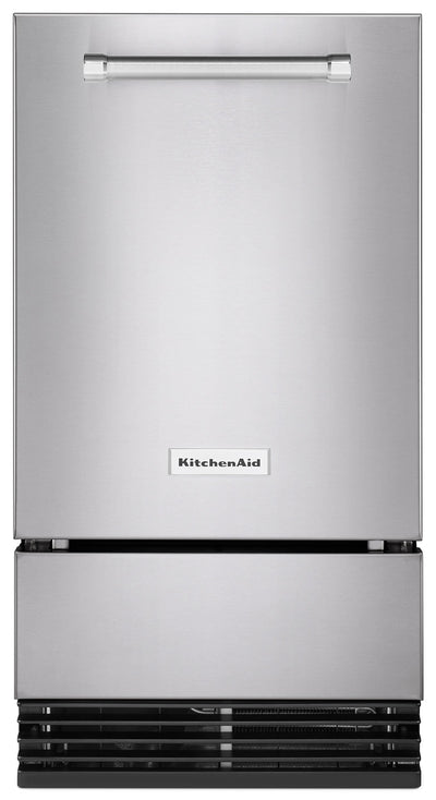 "KitchenAid 18"" Automatic Ice Maker – KUID308ESS - Ice Maker in Stainless Steel"