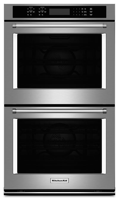 "KitchenAid 27"" Double Wall Oven with Even-Heat™ True Convection - Stainless Steel - Double Wall Oven in Stainless Steel"