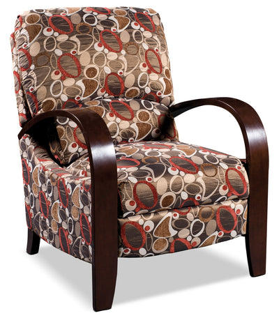 Aaron Reclining Fabric Accent Chair - Copper - Contemporary style Accent Chair in Brown