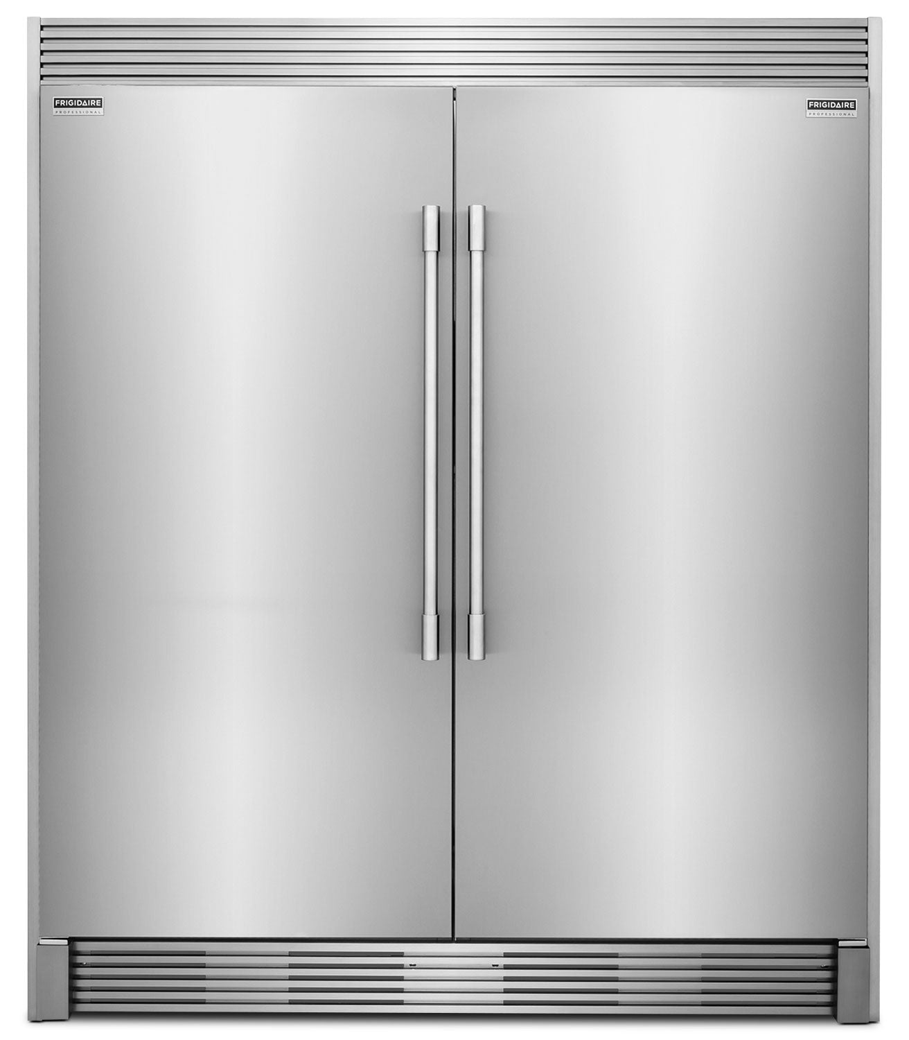 Frigidaire Professional 19 Cu  Ft  Refrigerator, 19 Cu  Ft  Freezer and  Trim Kit Package