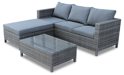Athens 3-Piece Patio Conversation Set|Ensemble de conversation Athens 3 pièces pour la terrasse|ATHG3SET