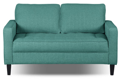 Paris Linen-Look Fabric Loveseat – Ocean|Causeuse Paris en tissu d'apparence lin - océan|PARISOLV
