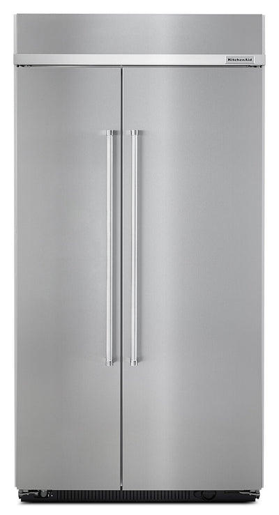 KitchenAid 25.5 Cu. Ft. Built-In Side-by-Side Refrigerator - Stainless Steel - Refrigerator with Ice Maker in Stainless Steel