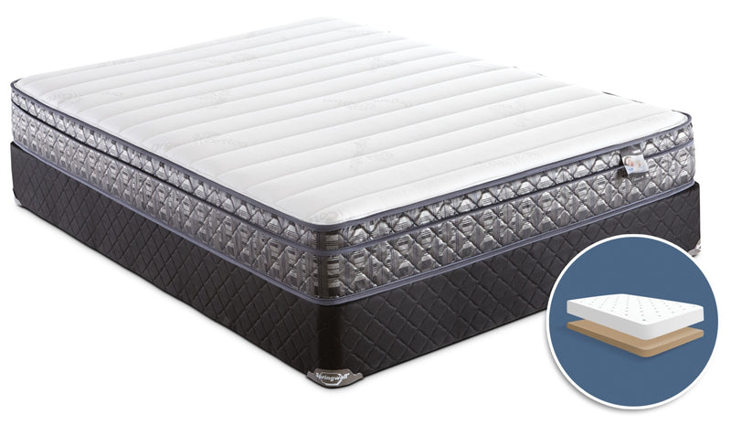 Springwall Endeavour 4 Euro-Top Firm Low-Profile Full Mattress Set|Ensemble matelas ferme à Euro-plateau à profil bas Endeavour 4 de Springwall pour lit double