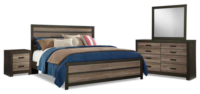 Harlinton 6-Piece King Bedroom Package - Rustic style Bedroom Package in Two-Toned