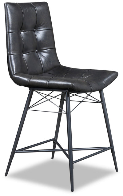 Avis Counter-Height Dining Chair - {Industrial} style Dining Chair in Grey-Black {Metal}